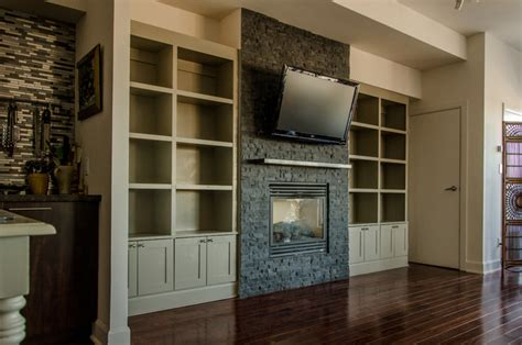Upper Beaches Condo Built In Bookcase Contemporary Houzz Built In Bookshelves