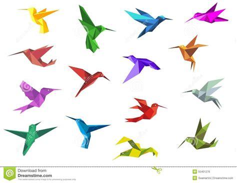 Dessin Oiseau Origami by Colibris D Origami De Vol Ou Oiseaux De Colibri