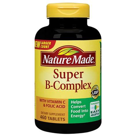 Vitamin B Complex nature made b complex with vitamin c and folic acid
