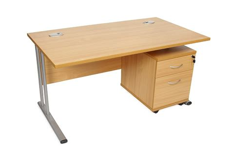 Rectangular Office Desk Rectangular Desk And 3 Draw Pedestal Office Furniture Solutions 4u