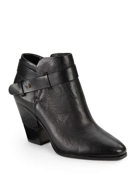 dv by dolce vita hilary leather ankle boots in black lyst
