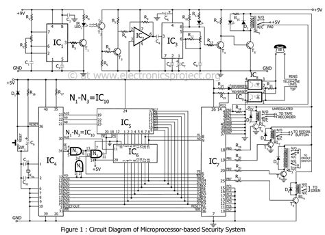 basic alarm system circuit diagram 34 wiring diagram