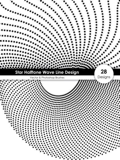 Circle Halftone Wave Line Design Vector and Photoshop