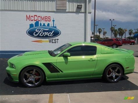 mustang gotta it green 2013 gotta it green ford mustang roush stage 3 coupe