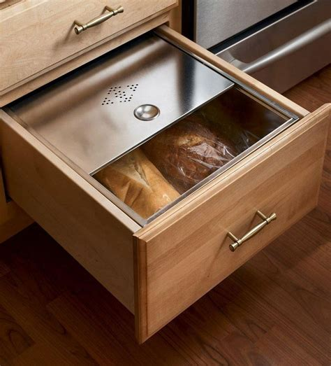 under cabinet bread box base bread box drawer cabinets storage solutions