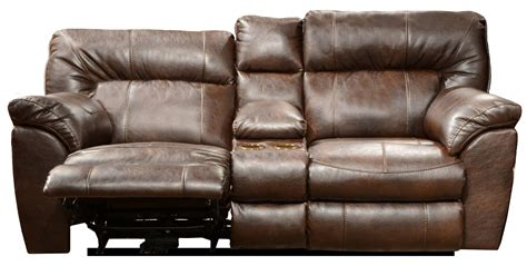 Reclining Sofa With Cup Holders Power Wide Reclining Console Loveseat With Storage And Cup Holders By Catnapper Wolf And