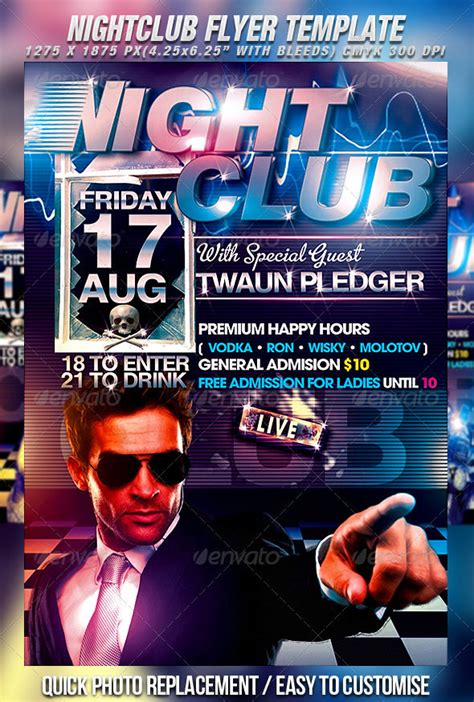 Club Template by 30 Fabulous Club Flyer Templates Psd Designs