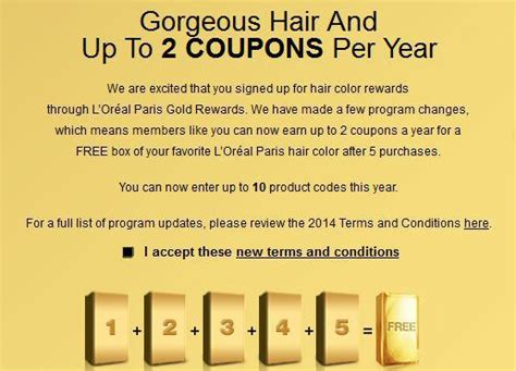 loreal hair color rewards l oreal gold rewards free hair color coupon the