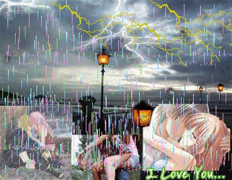 doccia buona domenica immagine bacio sotto la pioggia 131089851 blingee