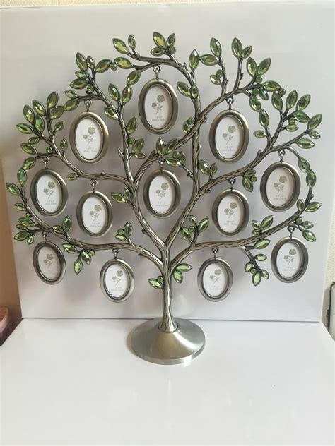 gifts home decor fashion family tree green rhinestone photo frame baby