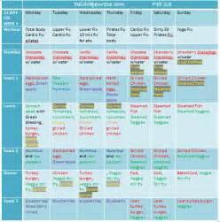 deidra penrose 21 day fix week 3 exercise meal plan