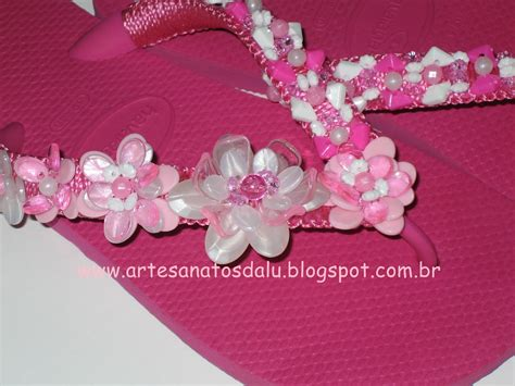 Lu Natal Pink 7 artesanatos da lu chinelo bordado pink 191
