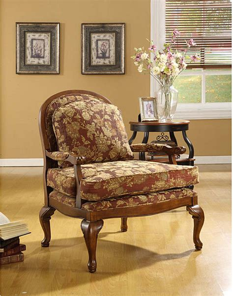 Burgundy Accent Chairs Living Room Salon Burgundy Brocade Chair Contemporary Armchairs And Accent Chairs By Overstock