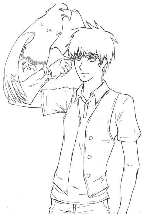 zookeeper coloring pages zookeeper and hawk lineart by dev lish on deviantart