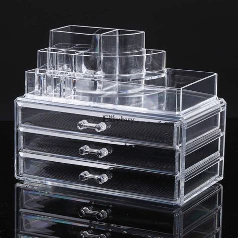 Makeup Drawers by Jewelry Clear Acrylic Makeup Cosmetic Organizer