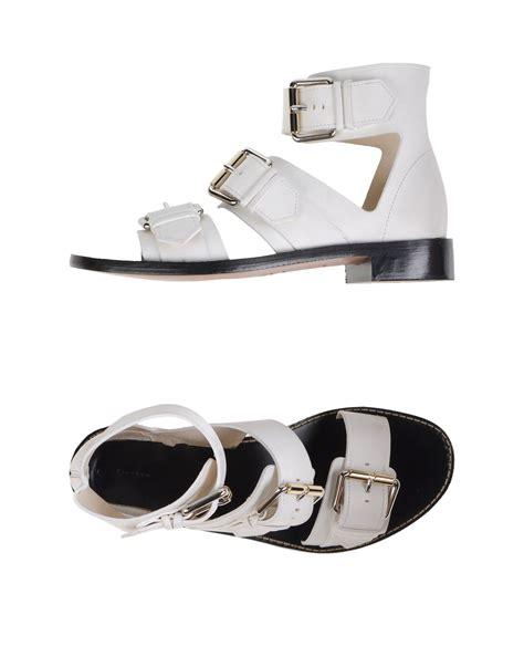 proenza schouler sandals proenza schouler sandals in white lyst
