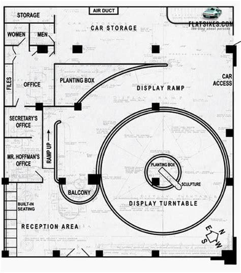 car showroom floor plan frank lloyd wright designed hoffman porsche dealership in
