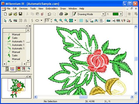 embroidery design management software millennium iii the professional embroidery software
