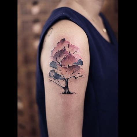 watercolor tree tattoo ideas watercolor tree designs ideas and meaning