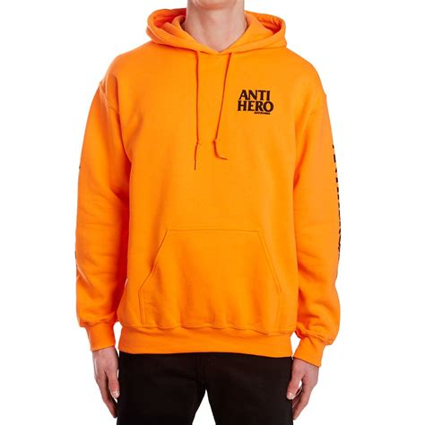 anti winghero hoodie safety orange