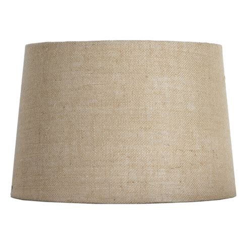 burlap drum l shade shop allen roth 10 in x 15 in tan burlap fabric drum