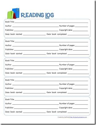 log book report sle book report form and reading log printables reading logs