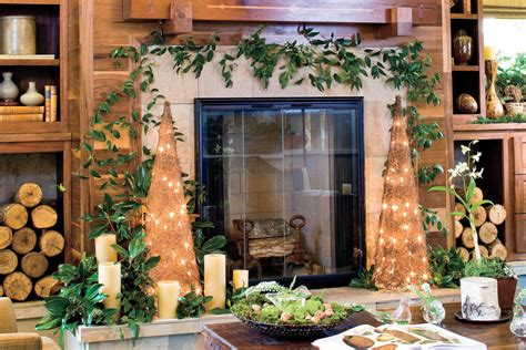 rustic christmas decor southern living deck the halls rustic christmas decor southern living