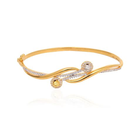bangles intertwined gold bangle bracelet grt jewellers