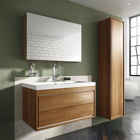 Wickes Kitchen Wall Cabinets Wickes Novellara Wall Hung Unit With Basin Walnut 600mm Wickes Co Uk