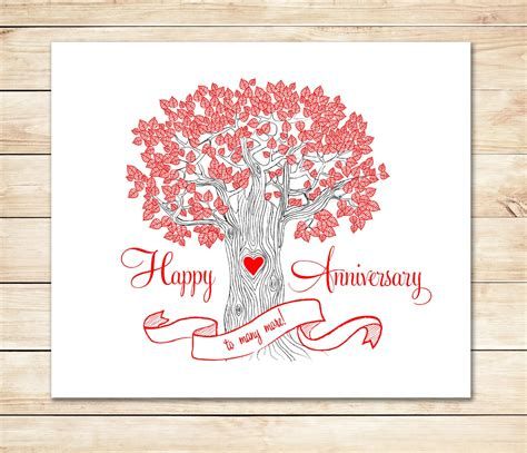 printable anniversary cards printable anniversary card cute fast anniversary card diy
