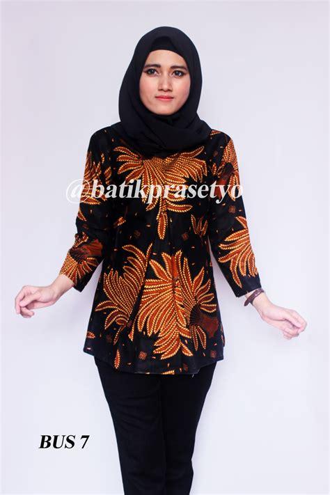 Batik Blus by Blus Batik Wanita Modern Motif Kembang 7 Batik Prasetyo