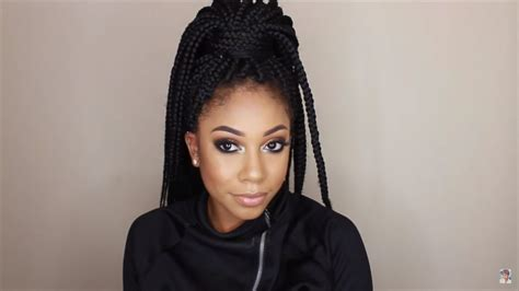was to style box braids for wedding 12 absolutely gorgeous ways to style your box braids for