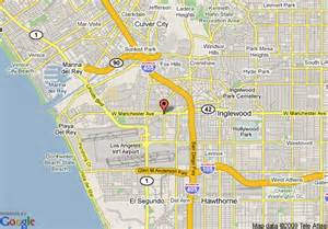 Map Of Los Angeles Airports by Map Of Howard Johnson Hotel Los Angeles International