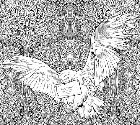 harry potter coloring book colored get a sneak peek of the new harry potter coloring book