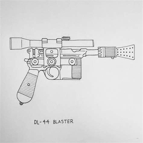 tattoo blaster pen dl 44 blaster hansolo starwars weapons blaster dl44