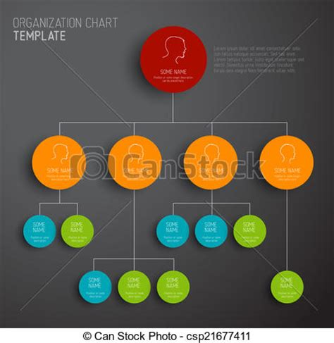 Vector Clip Art Of Vector Modern And Simple Organization Chart Template Csp21677411 Drawings Org Chart Template