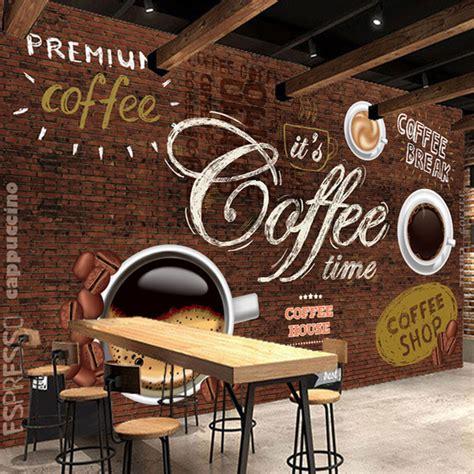 desain cafe  keren  wallpaper dinding nirwana
