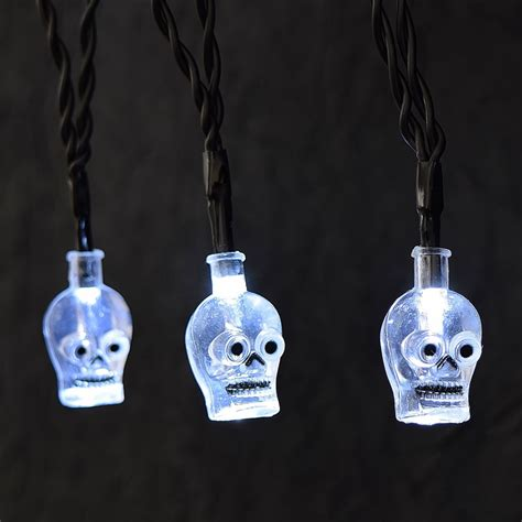 skeleton string lights skull led battery operated string lights