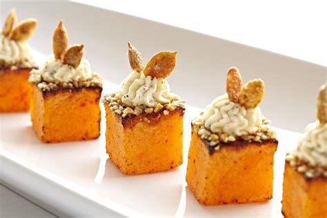 roasted butternut squash maple goat cheese pumpkin seeds hors doeuvres  greg powers