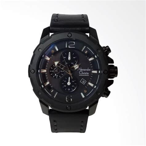 Jam Tangan Alexandre Christie Pria Ac 6473 Black Rosegold Original jual alexandre christie chronograph jam tangan pria