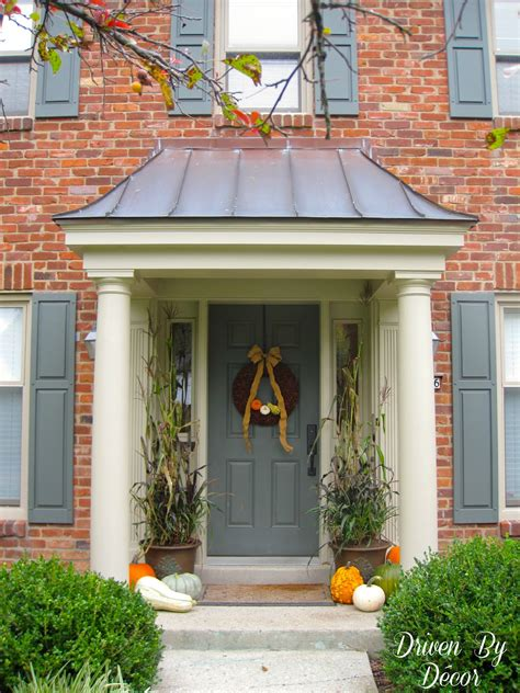 front entry ideas decorating my front porch for fall driven by decor
