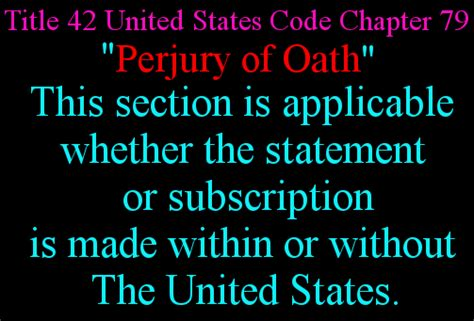 28 usc section 1746 42 u s c 167 1621 perjury generally perjury of oath
