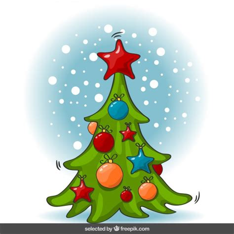 kerstboom cartoon download gratis vector