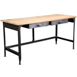 vintage industrial student desk original made in america