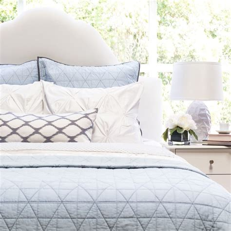 blue coverlets for beds the diamond box stitch light blue quilt sham crane