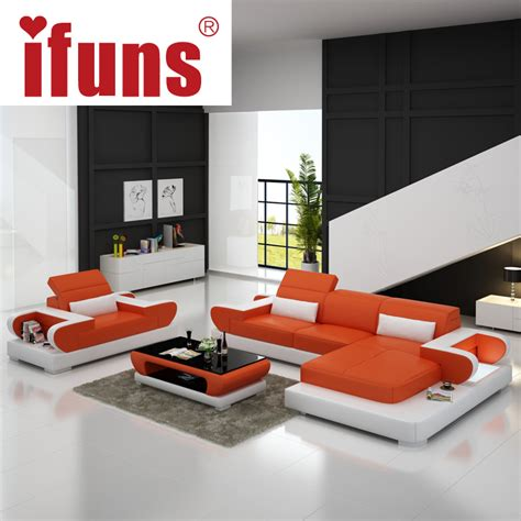 Corner Sofa In Living Room Ifuns Sofas For Living Room Large Corner Sofa Modern Design L Shaped Sectional Sofa Genuine