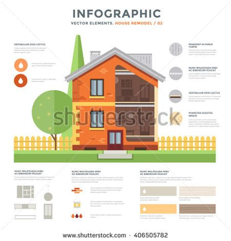 eco friendly home infographic with cutaway diagram of eco friendly home infographic cutaway diagram stock vector