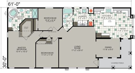 Mobil Home Floor Plans manufactured homes floor plans silvercrest homes
