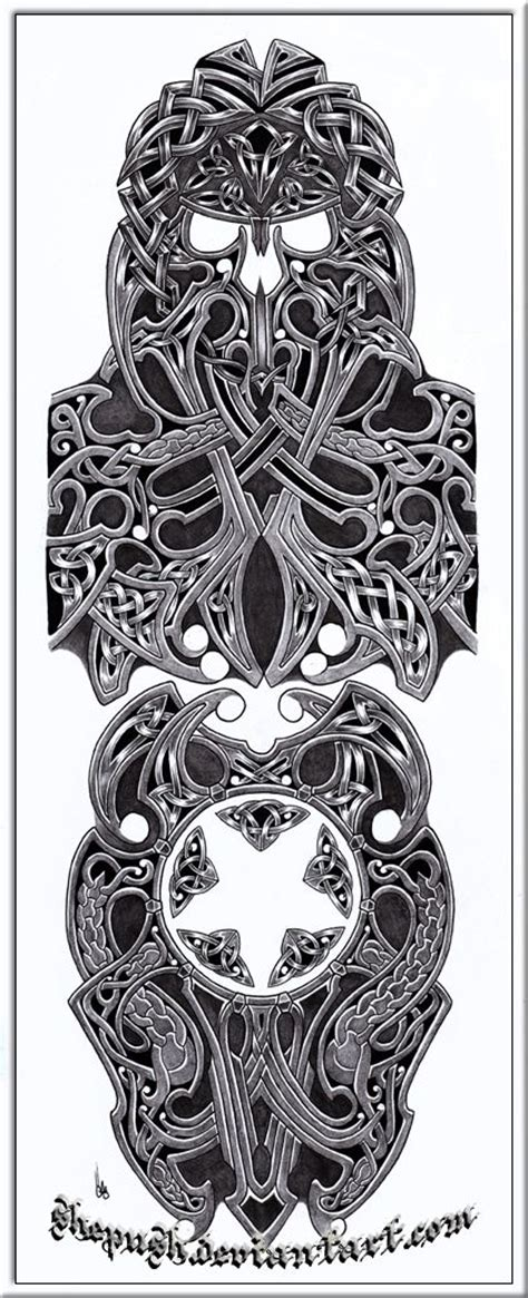 viking tattoo sleeve designs celtic sleeve by shepush deviantart on deviantart