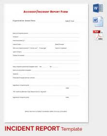 Template Incident Report incident report template 34 free word pdf format